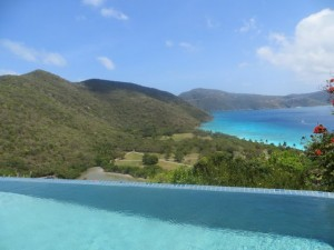 The Villa Collection Guana Island view from main villa